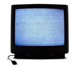 fuzzy tv set
