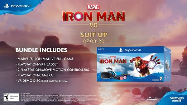 A look at the Iron Man VR Bundle, courtesy of Sony Interactive Entertainment.