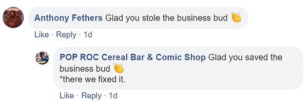 POP ROC Comic Shop – A Storm in a Cereal Bowl?