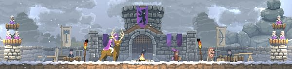 A majestic screenshot from Kingdom New Lands, a part of the indie compilation Kingdom Majestic.