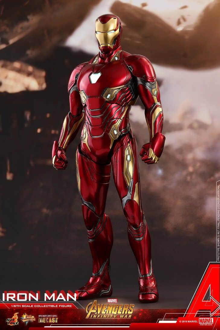 Iron Man Mark 50 Diecast from Avengers: Infinity War Coming from Hot Toys