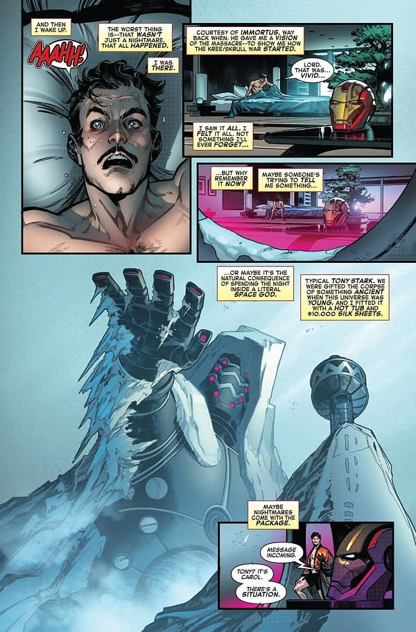 Empyre: Avengers #0 Preview Page from Marvel Comics.