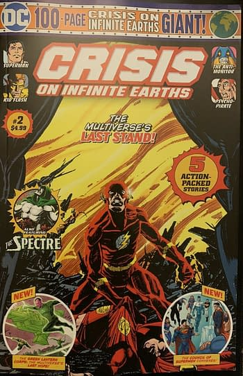 The Walmart Report, DC Giants for January: The Weird Arrival Of Crisis on Infinite Earths Giant #2