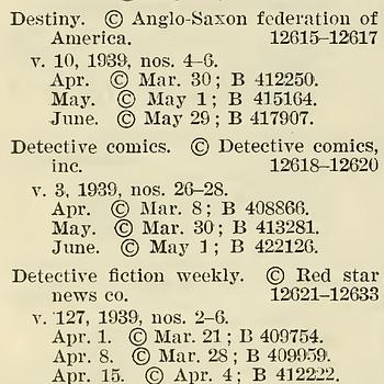 Catalog of Copyright Entries 1939 Periodicals  New Series Vol 34