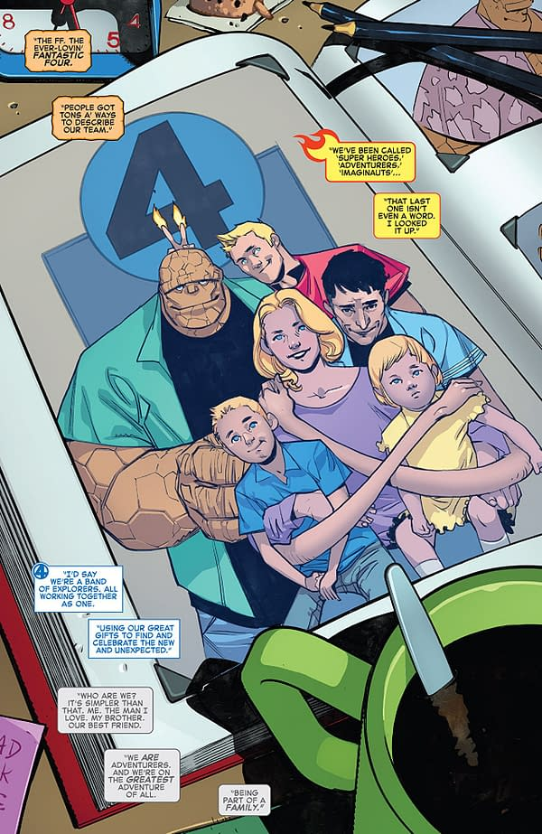 Fantastic Four #1 art by Sara Pichelli and Marte Gracia