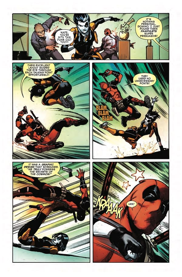 Deadpool Appreciates the Power of Good Graphic Design in Weapon X #23 Preview