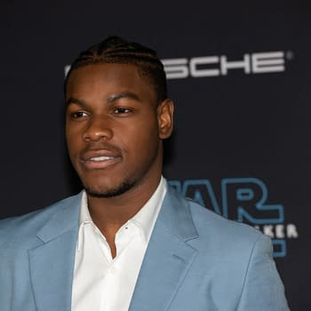 "John Boyega attends the premiere of Disney's ""Star Wars: The Rise of Skywalker"" on December 16, 2019 in Hollywood, California. Editorial credit: Silvia Elizabeth Pangaro / Shutterstock.com"