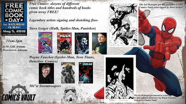 323 Creators Signing Comics on Free Comic Book Day 2018