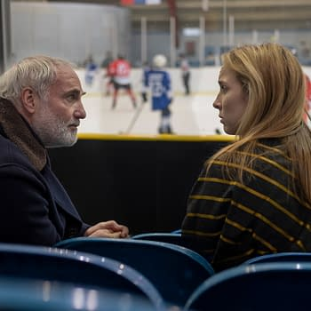 Jodie Comer as Villanelle, Kim Bodnia as Konstantin Vasiliev - Killing Eve _ Season 3, Episode 6 - Photo Credit: Laura Radford/BBCAmerica/Sid Gentle