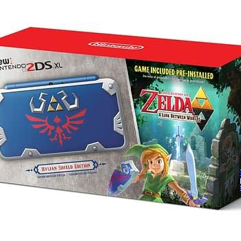 Nintendo Announces New Nintendo 2DS XL Hylian Shield Edition