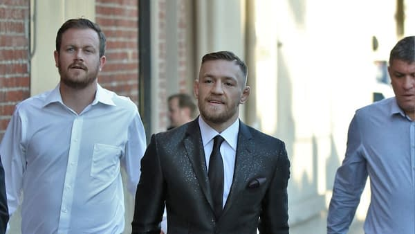 Mixed martial arts fighter Conor McGregor is in Hollywood for an appearance on Jimmy Kimmel Live! December 2, 2015 -- HOLLYWOOD - DECEMBER 2, 2015