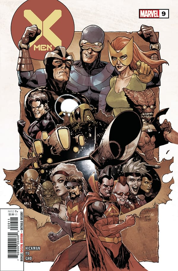 The cover of X-Men #9 from Marvel Comics, with artwork by Leinil Francis Yu.