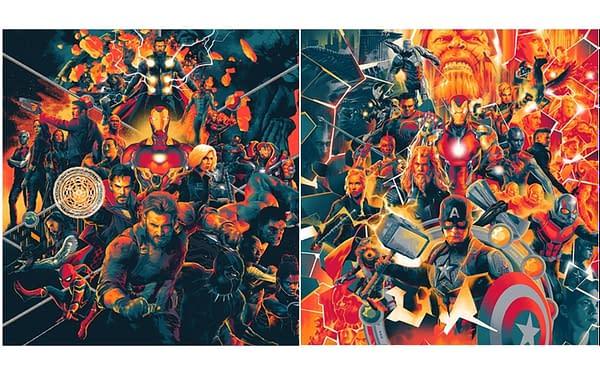 Mondo Avengers score covers. Credit Mondo