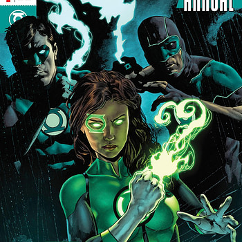 Green Lanterns Annual #1 cover by Mike Perkins and Andy Troy