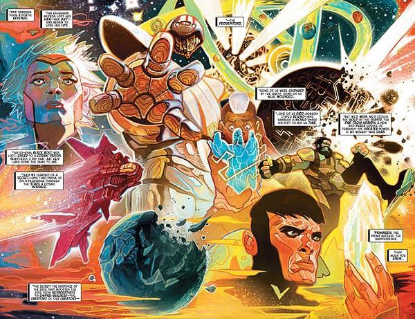 Inhumans: Judgement Day #1 art by Mike del Mundo