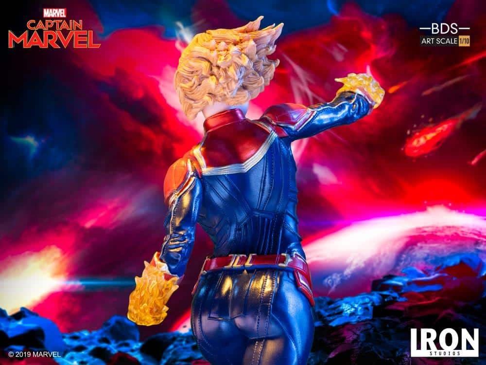 Captain Marvel Iron Studios Statue 8