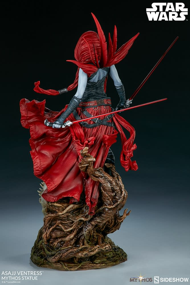 Asajj Ventress Star Wars Statue Opens for Pre-orders with Sideshow