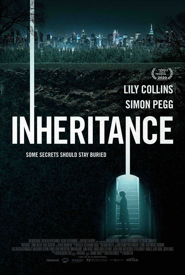 The poster for Lily Collins thriller Inheritance.