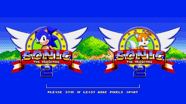 Le logo Sonic 2 COVID retravaillé de SEGA.