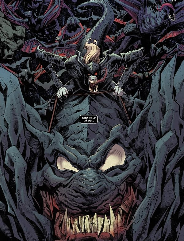 Venom #25 Reprises The Past And Teases The Future For Knull.