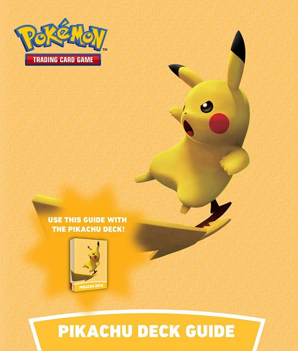 The cover of the Pikachu deck's guide for Battle Academy.