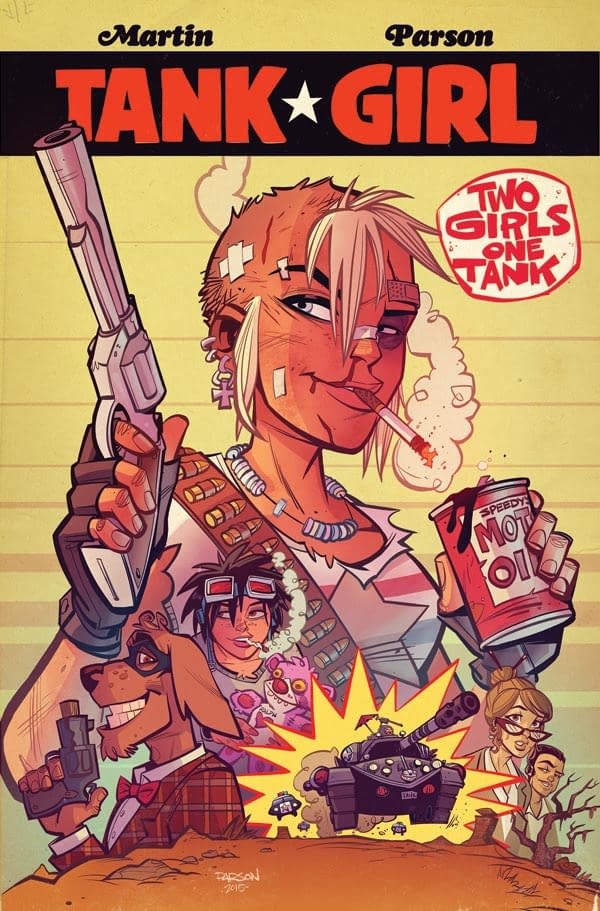 TANK GIRL STRONGER THIGHS POSTER - with bonus CUT-OUT
