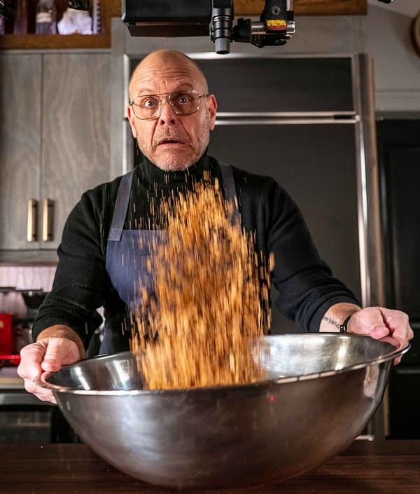 Alton Brown looks at grains and oats on Good Eats: Reloaded, courtesy of Cooking Channel.