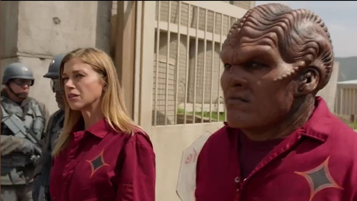 The Orville - Adrianne Palicki and Peter Macon s02e05