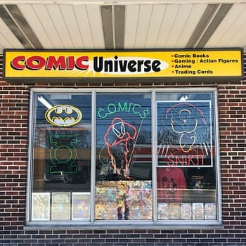 Front of Comic Universe comic shop