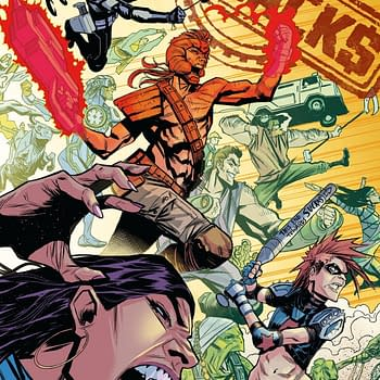 Donny Cates Eliot Rahal and Geoff Shaws Superhero Parody The Paybacks Collected at Dark Horse