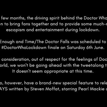 Doctor Who Lockdown notice from Emily Cook.