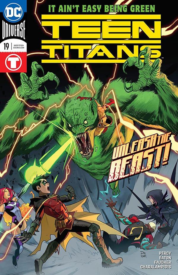 Teen Titans #19 cover by Dan Mora