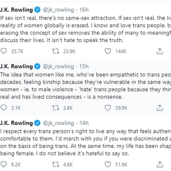 Magdalene Visaggio Offers Forthright Conversation With JK Rowling