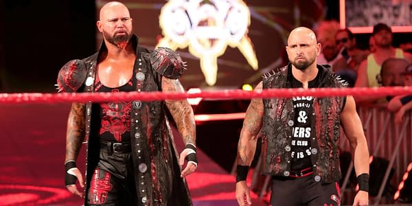 The OC's Gallows and Anderson make their way to the ring, courtesy of WWE.