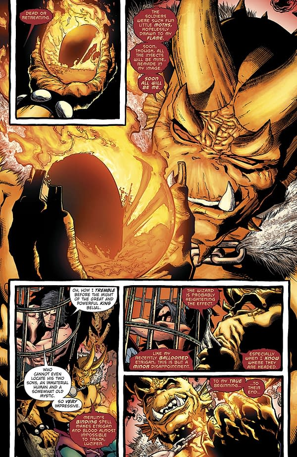 Demon: Hell is Earth #4 art by Brad Walker, Andrew Hennessy, and Chris Sotomayor