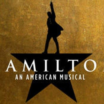 The official logo for the musical Hamilton.