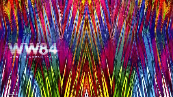 Un arrière-plan virtuel Wonder Woman 84 pour la vidéoconférence Zoom.