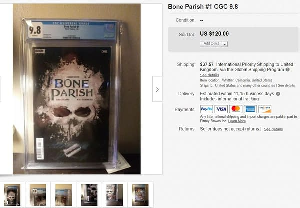 Netflix Speculators Paying $120 for Bone Parish #1.