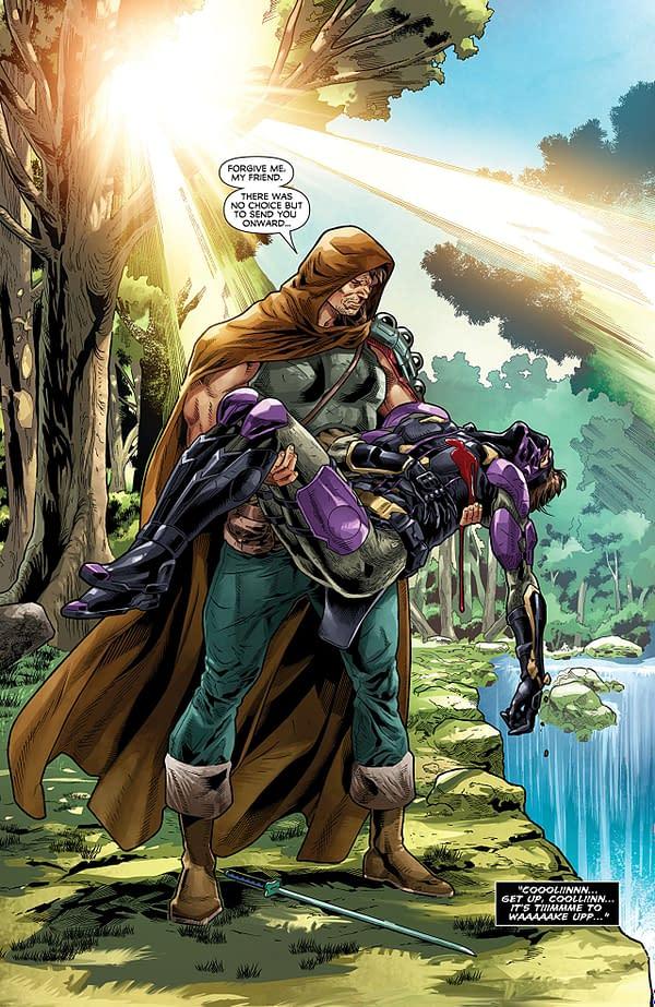 Ninjak vs the Valiant Universe #3 art by Joe Bennett, Belardino Brabo, and Ulises Arreola