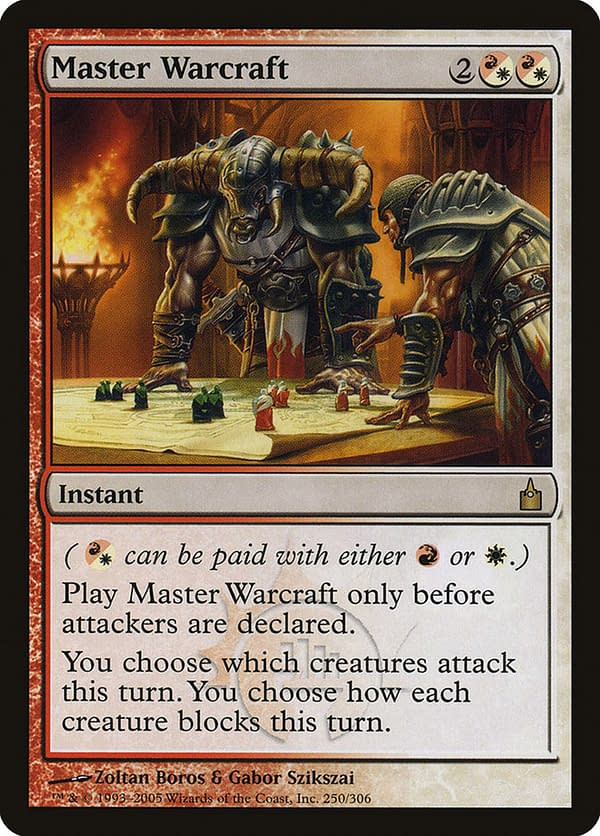 Master Warcraft, a card from the Ravnica: City of Guilds set for Magic: The Gathering.