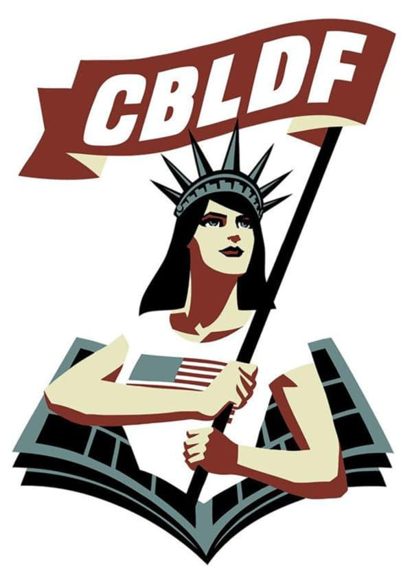 The official logo of the CBLDF.