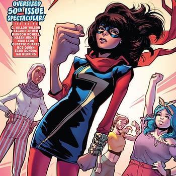 Ms. Marvel #31 cover by Valerio Schiti and Rachelle Rosenberg