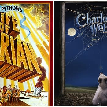 L_R: The official posters for Monty Python's Life of Brian (1979) and Charlotte's Web (2006).