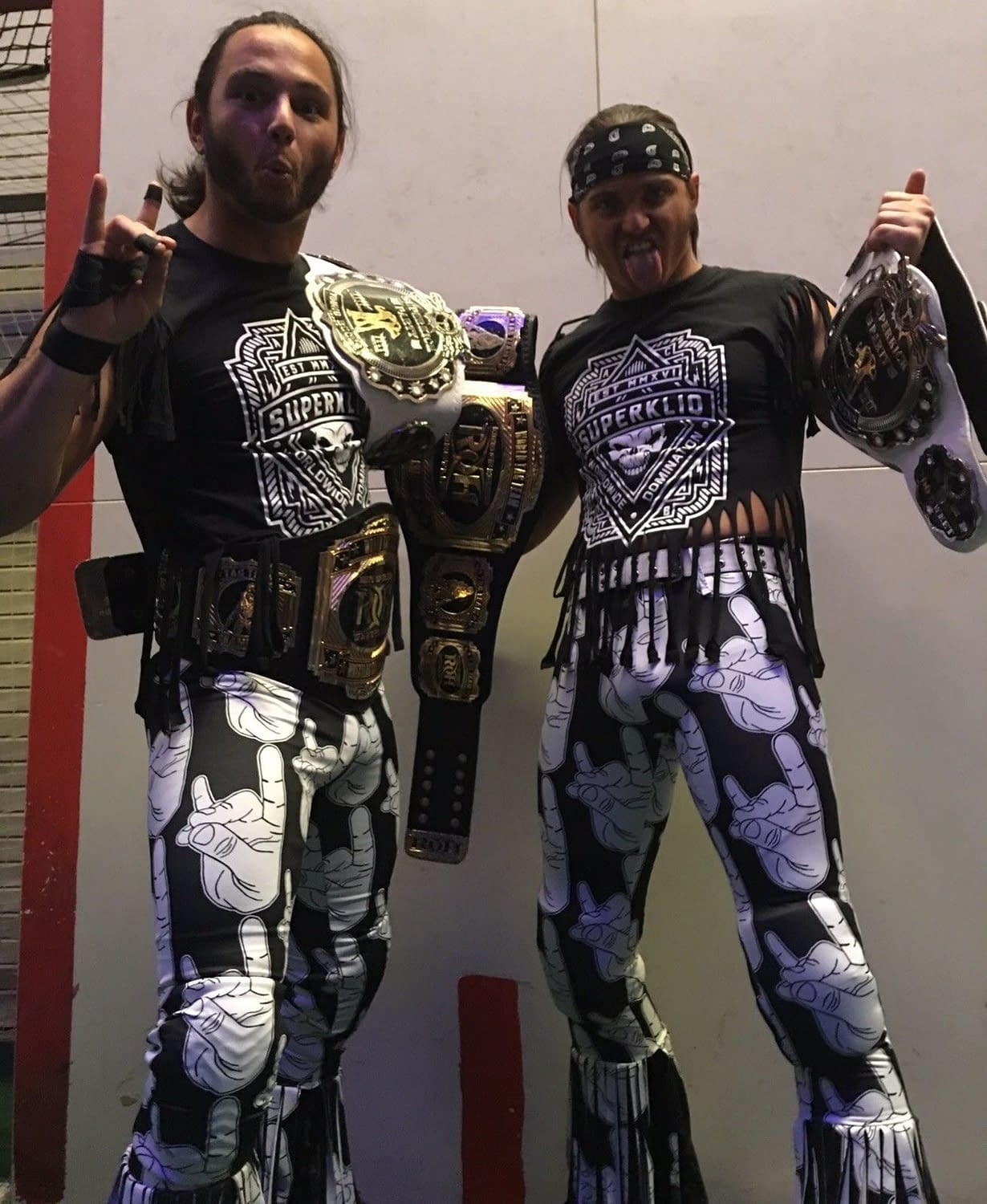 "After WWE Cease And Desist, Young Bucks Auction ""Too Sweet"" Tights For Charity And Lulz"