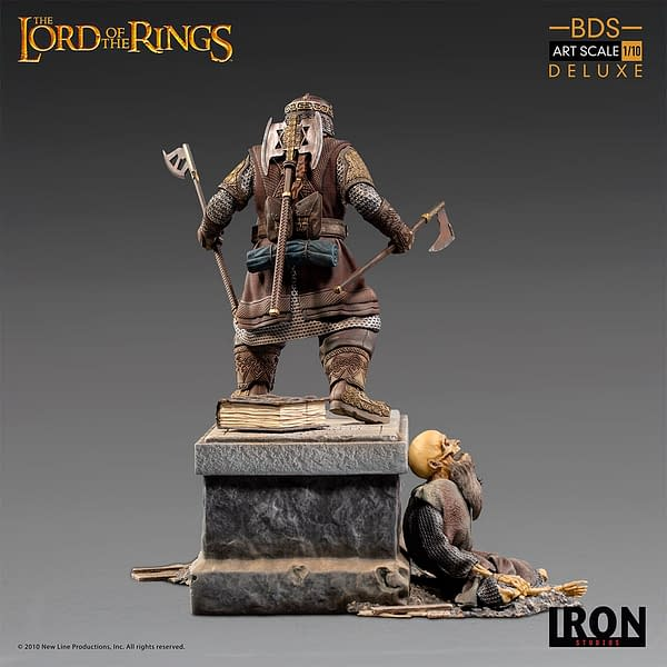 Lord of the Rings Gimli Battle Diorama Statue from Iron Studios
