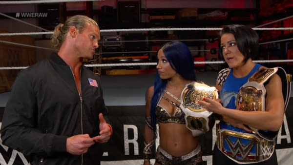 Not even Sasha Banks and Bayley believe Dolph Ziggler's not a jobber to the stars.