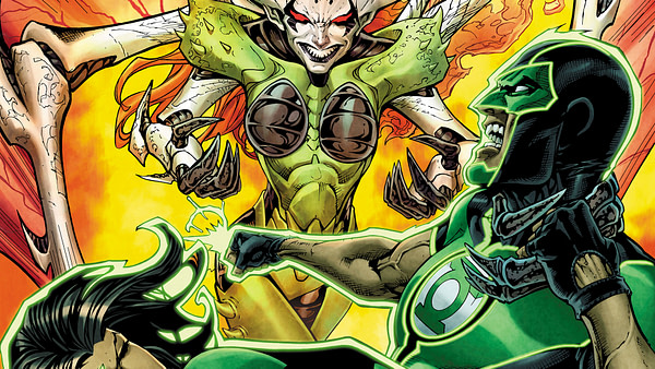 Green Lanterns #39 cover by Shane Davis, Michelle Delecki, and Jason Wright