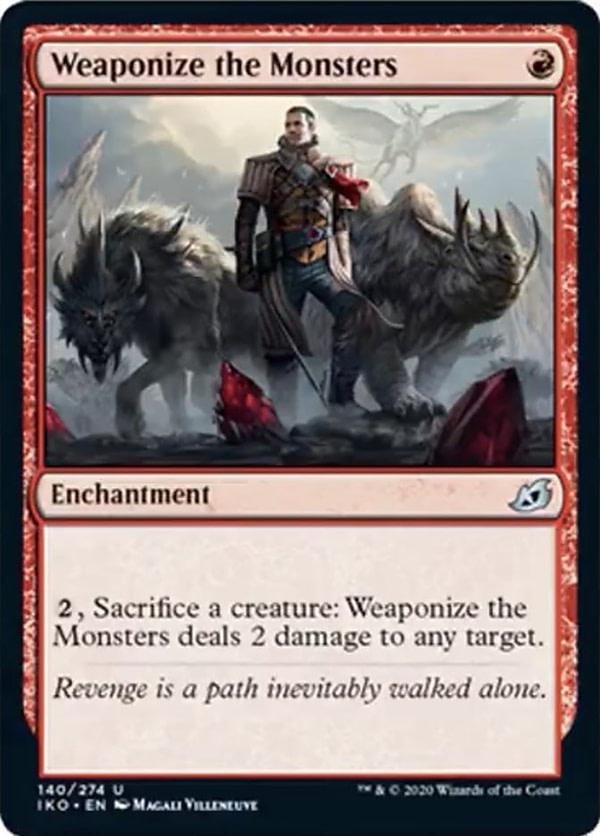 Weaponize the Monsters, une nouvelle carte de Ikoria: Lair of Behemoths prévue pour Magic: The Gathering.