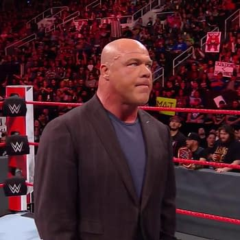 Kurt Angle on RAW, courtesy of WWE.