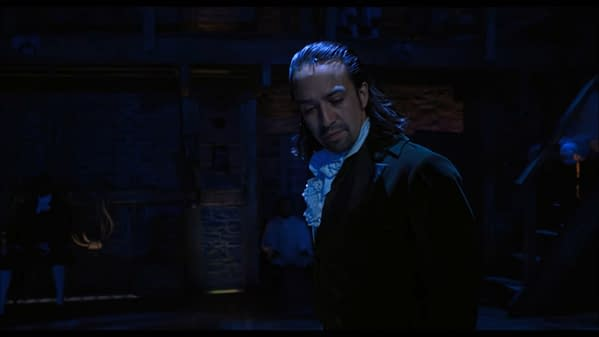 Lin-Manuel Miranda in the trailer for Hamilton contemplating the MPAA's censorship